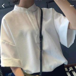 カスタネ(Kastane)のシンプルシャツ フロントボタン(シャツ/ブラウス(半袖/袖なし))