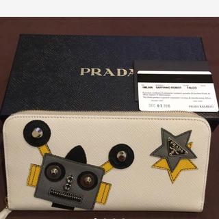 プラダ(PRADA)の正規品 プラダ ロボット柄 ジップラウンドファスナー長財布 日本未入荷(財布)