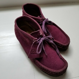 クラークス(Clarks)の*はるポン3939さん専用*クラークス ワラビー パープル UK4 1/2(ローファー/革靴)