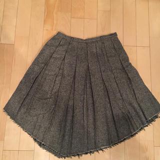 クワクワ(quoi? quoi?)のquoi quoi?クワクワ ツイード プリーツ アシメ スカート(ひざ丈スカート)