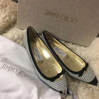 ジミーチュウ(JIMMY CHOO)の新品未使用 ❤︎ 定価 75600 ジミーチュー ❤︎ ドット リボン パンプス(その他)