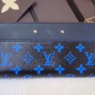 ルイヴィトン(LOUIS VUITTON)の未使用ヴィトン長財布ジッピーウォレット限定レア新品モノグラムブルー チャップマン(財布)