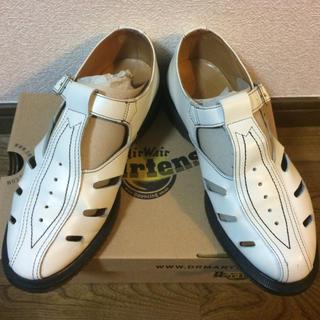 ドクターマーチン(Dr.Martens)のDr.Martens ドクターマーチン ホワイト シューズ UK6(ローファー/革靴)