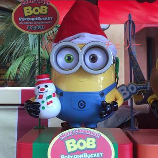 USJ ミニオン メリークリスマス! ボブ・ポップコーン バケツ 新商品