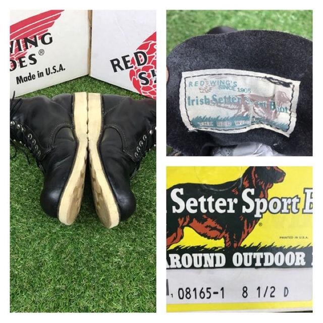 REDWING(レッドウィング)の【箱付】8165レッドウイング廃盤1380ブーツ26.5-27.5cm送料無料 メンズの靴/シューズ(ブーツ)の商品写真