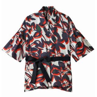 ドゥロワー(Drawer)の新品☆PARIGOT パリゴ 花柄 ベルト付き シャツ ジャケット ブラウス(その他)