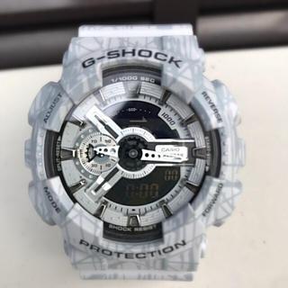 ジーショック(G-SHOCK)のG-SHOCK GA 110  スラッシュパターン グレー 美品 レア 希少(腕時計(デジタル))