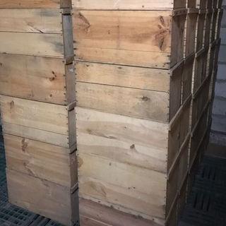 リンゴが入ってた中古木箱 4箱セット 送料込み(その他)