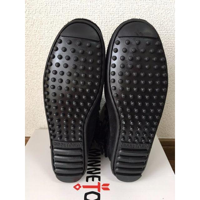 Minnetonka(ミネトンカ)の【新品/正規品】ミネトンカ ダブルフリンジサイドジップブーツ ブラック レディースの靴/シューズ(ブーツ)の商品写真