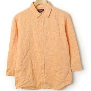 レイジブルー(RAGEBLUE)の美品【レイジブルー】7分袖リネンシャツ オレンジ(シャツ)