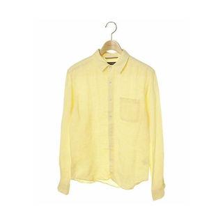 レイジブルー(RAGEBLUE)のレイジブルー【美品】長袖リネンシャツ イエロー 黄色(シャツ)