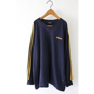 アディダス(adidas)のアディダス ライン入り ロンT Tシャツ 長袖 古着(Tシャツ/カットソー(七分/長袖))