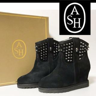 アッシュ(ASH)の★新品正規品★ASHアッシュ★インヒール・黒スエード・ブーツ(ブーツ)