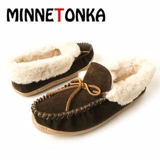 ミネトンカ(Minnetonka)のMINNETONKA ミネトンカ ボア モカシン Trina 23cm US6(ハイヒール/パンプス)