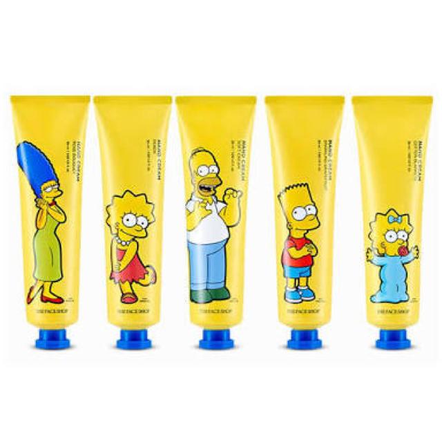 THE FACE SHOP(ザフェイスショップ)の5本セット♪シンプソンズハンドクリーム フェイスショップ コスメ/美容のボディケア(ハンドクリーム)の商品写真