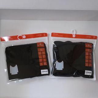 ジーユー(GU)のGU 吸湿発熱インナー ワイドネックS 2点セット(Tシャツ(長袖/七分))