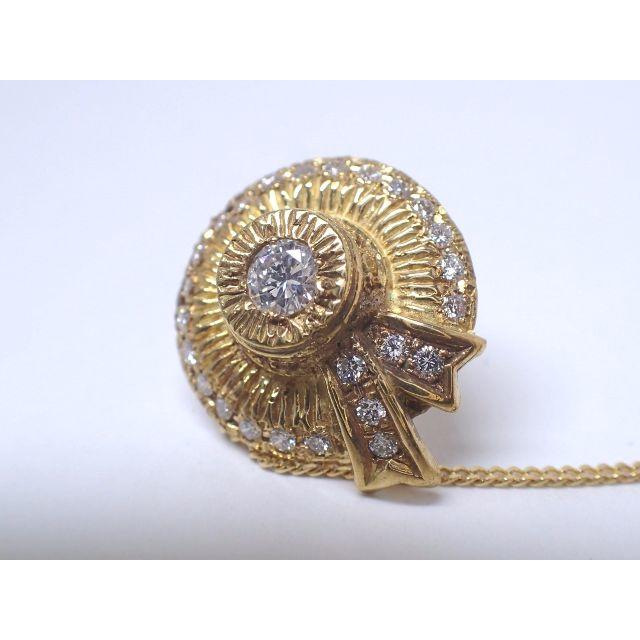 ■マルヨ質舗■総0.57ct:K18■麦わら帽子のタイピン18金ゴールド■ メンズのファッション小物(ネクタイピン)の商品写真