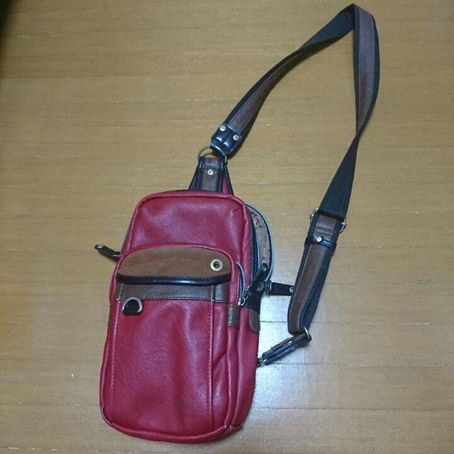 斜め掛けバッグ babybag レッド メンズのバッグ(ボストンバッグ)の商品写真