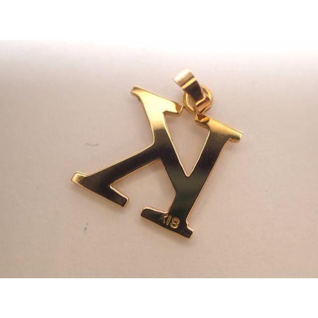 ■マルヨ質舗■K18■イニシャル「K」18金ゴールドペンダントトップ■ レディースのアクセサリー(ネックレス)の商品写真