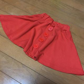 ジーユー(GU)のフレアスカート オレンジ 110 (スカート)