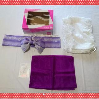 5.25-2 浴衣つくり帯 兵児帯 3点セット(浴衣)