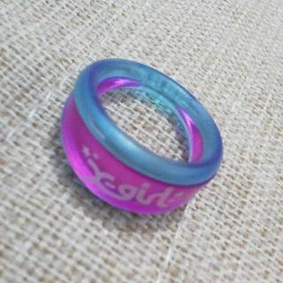 エックスガール(X-girl)のX-girl エックスガール リング 2way ピンク ブルー 指輪 ロゴ入り(リング(指輪))