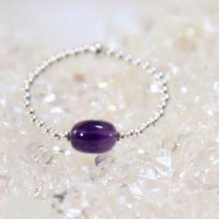 #天然石#アメジスト※二月の誕生石・真実の愛を守りぬく石(リング(指輪))