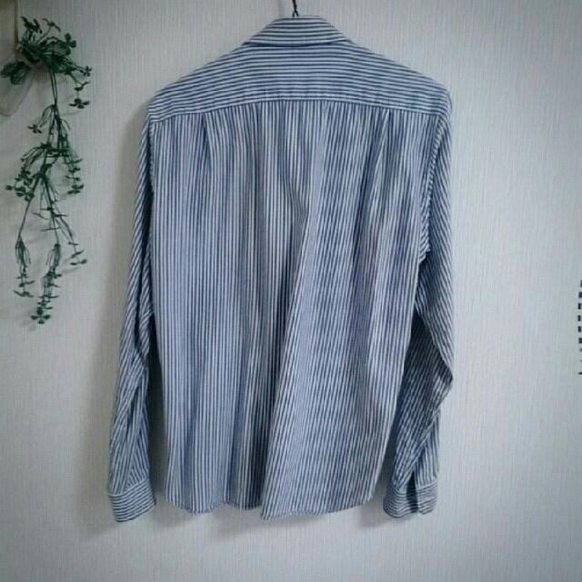 TAKEO KIKUCHI(タケオキクチ)のブルーストライプシャツM メンズのトップス(シャツ)