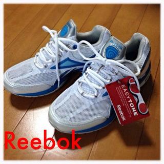 リーボック(Reebok)のReebok EASYTONE 白+青♡(スニーカー)