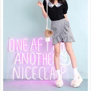 ワンアフターアナザーナイスクラップ(one after another NICE CLAUP)のナイスクラップ ラッフルデザインスカート(ミニスカート)