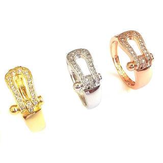 385  話題商品☆18K金コーティング☆ホースシュー指輪(リング(指輪))
