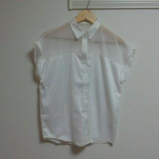 ジーユー(GU)のGU☆シースルーシャツ(シャツ/ブラウス(半袖/袖なし))