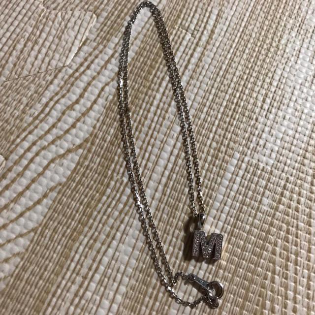 EYEFUNNY(アイファニー)のネックレス アイファニー ダイヤモンド アルファベット M(S) / 18KWG レディースのアクセサリー(ネックレス)の商品写真