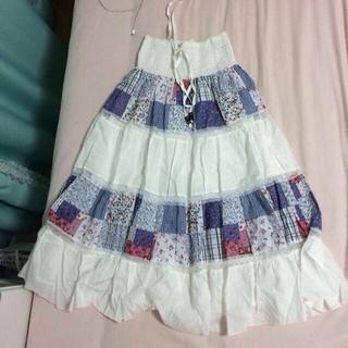 パッチワークロングスカート♡(ロングスカート)