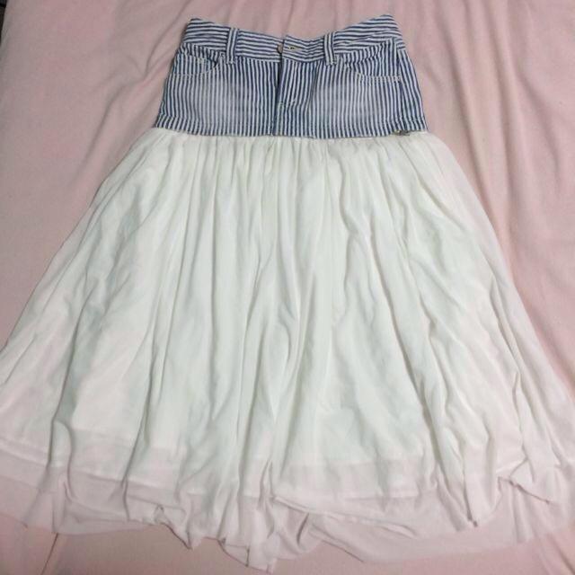 AGAINST(アゲインスト)の切り替えロングスカート♡ レディースのスカート(ロングスカート)の商品写真