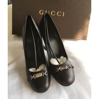 グッチ(Gucci)の【専用】GUCCI 美品 ブラックパンプス(ハイヒール/パンプス)