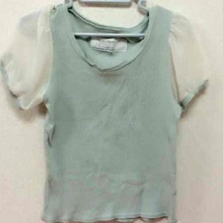 フーズフーチコ(who's who Chico)のシフォン袖トップス(Tシャツ(半袖/袖なし))