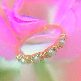 ノジェス(NOJESS)の《美品》ノジェス♡k10 パール ピンキーリング♡3号、PG、エテ、(リング(指輪))