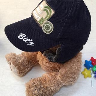 ビッツ(Bit'z)の最終値下❣️美品Bit'zビッツ♡ボア耳付コーデュロイ キャップ♡ネイビー52✨(帽子)