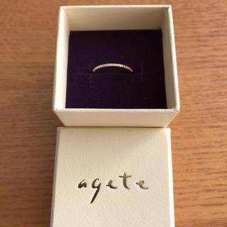 アガット(agete)のagete アガット ハーフエタニティ ピンキーリング 1号(リング(指輪))
