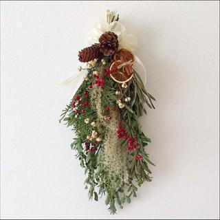 クリスマススワッグ ドライフラワー(ドライフラワー)