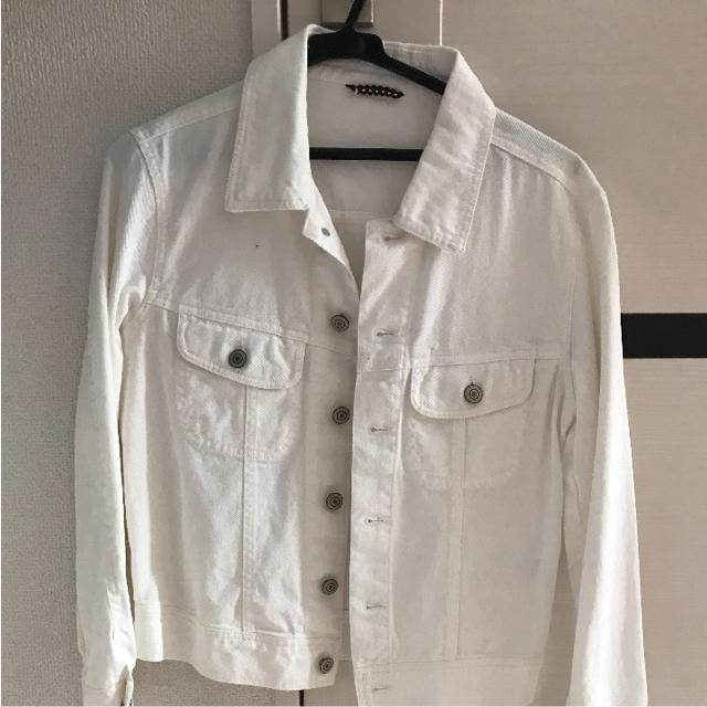 NADIA(ナディア)のホワイトデニムジャケット Gジャン wego スピンズ ナディア  バブルス レディースのジャケット/アウター(Gジャン/デニムジャケット)の商品写真