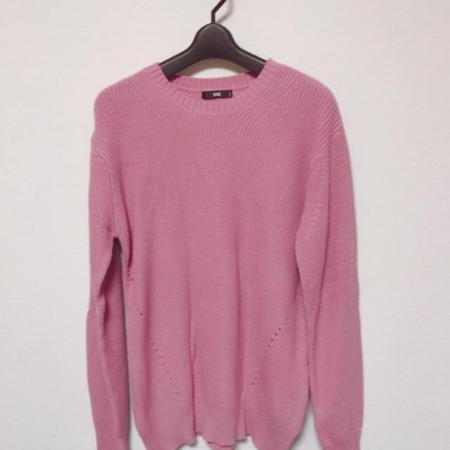 HARE(ハレ)のHARE ピンクニット サイズM メンズのトップス(ニット/セーター)の商品写真