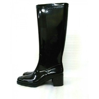 フルラ(Furla)の値下げ FURLA  確実正規品  長靴 レインブーツ  ブラック  サイズ38(レインブーツ/長靴)