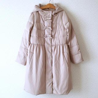 クチュールブローチ(Couture Brooch)の新品◆クチュールブローチ 完売 ダウン フロントリボンダウンコート ナチュラル(ダウンコート)