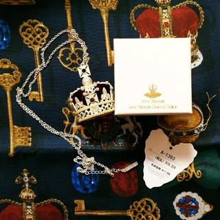 ジェーンマープル(JaneMarple)の未使用☆ジェーンマープルの王冠ネックレス☆パープル (ネックレス)