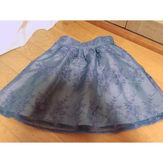 ワンアフターアナザーナイスクラップ(one after another NICE CLAUP)のNICE CLAUP オーガンジー刺繍スカート(ミニスカート)