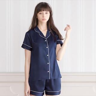 ジーユー(GU)のGU パジャマ  サテン  半袖(パジャマ)