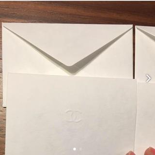 シャネル(CHANEL)のシャネル メッセージカード & 封筒 2セット(カード/レター/ラッピング)