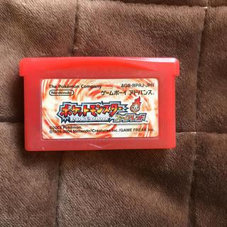 ゲームボーイアドバンス(ゲームボーイアドバンス)のポケットモンスターファイアレッド(携帯用ゲームソフト)
